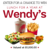 Monthly Sweepstakes Wendy's