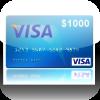 Get Visa $1000 Gift Card