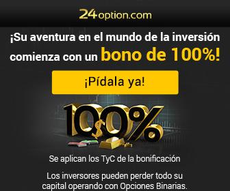 bono del 100% de 24option