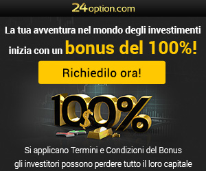 Opzioni binarie con 24option 100% di bonus