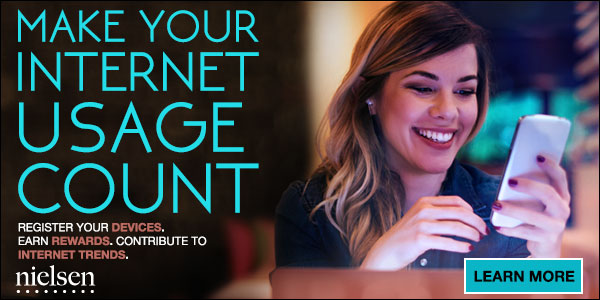 download the Nielsen app and start earning