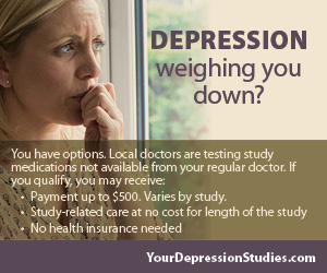 Join this clinical study for depression and earn extra money this month!
