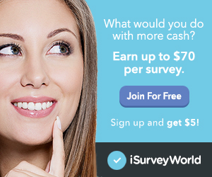 Earn Cash for your Opinions with iSurveyWorld!