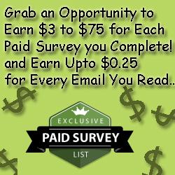 Paid Survey List...