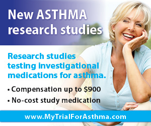 Have Asthma? Get paid up to $900 for participating in the Asthma clinical trial.