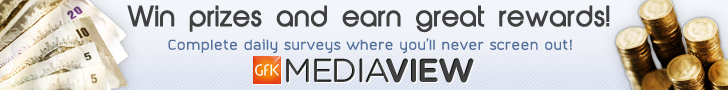 Win prizes and earn great rewards with the GFK MediaView Panel