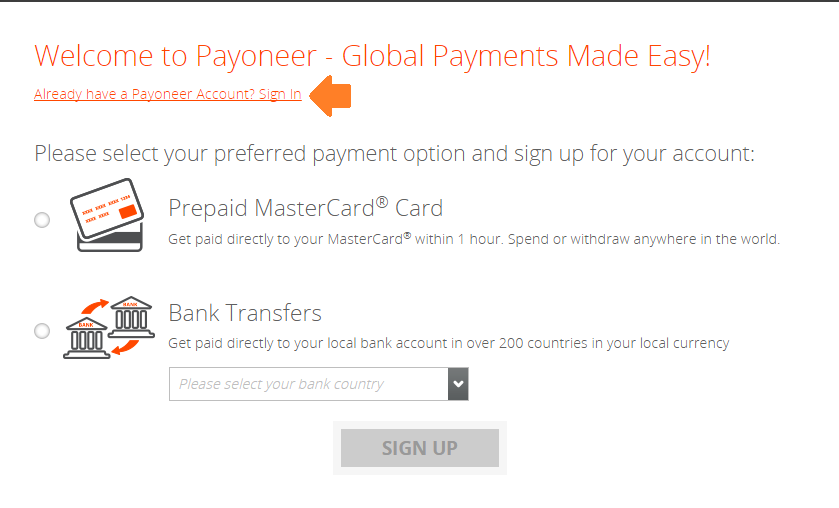Receiving Amazon U.S. Affiliate commission using Payoneer: