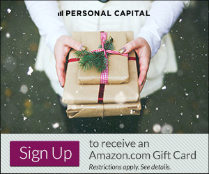 Personal Capital Free $20 Amazon Gift Card