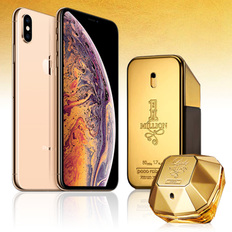 463x463 - Vinci un iPhone Xs Max d'Oro E Paco Rabanne 1 Million!
