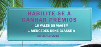 Habilite-se a ganhar premios - 10 Vales de Viagem - 1 Mercedes Benz Classe A