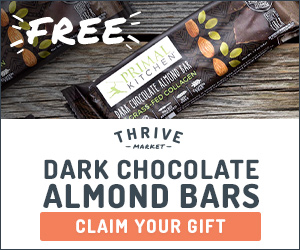 Free Primal Kitchen Chocolate Almond Bars with your Thrive Market Order
