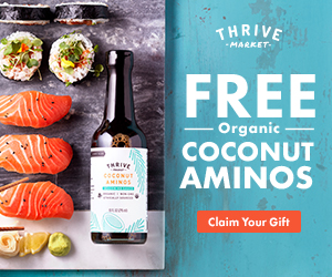 Free Coconut Aminos with your Thrive Market Order