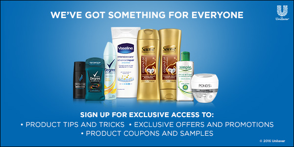 Free Samples Coupons From Unilever Deal Mama