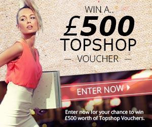 Win a TOPSHOP Vouchers