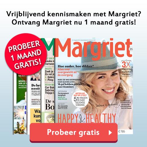 4x Gratis Margriet ontvangen? Schrijf je snel in!