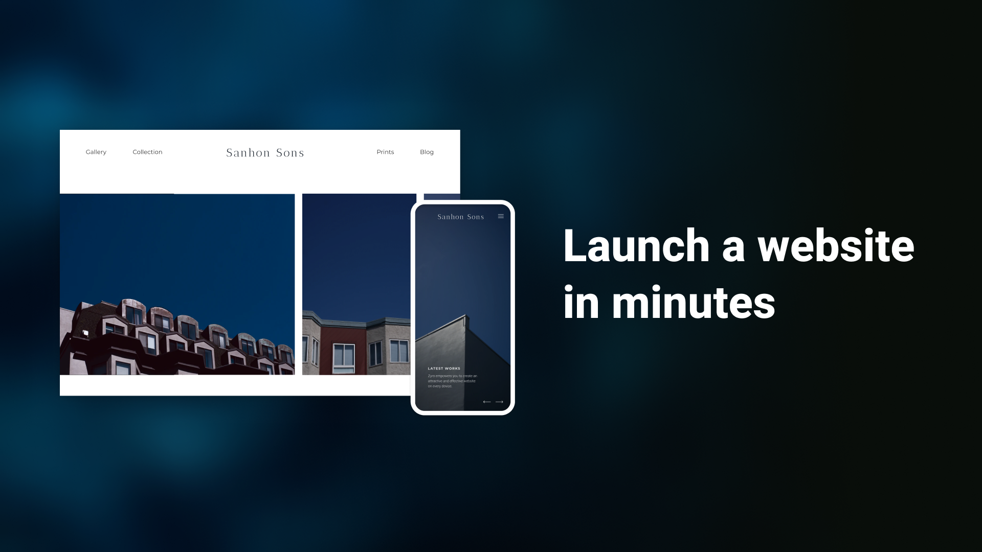 Launch a website in minutes with zyro