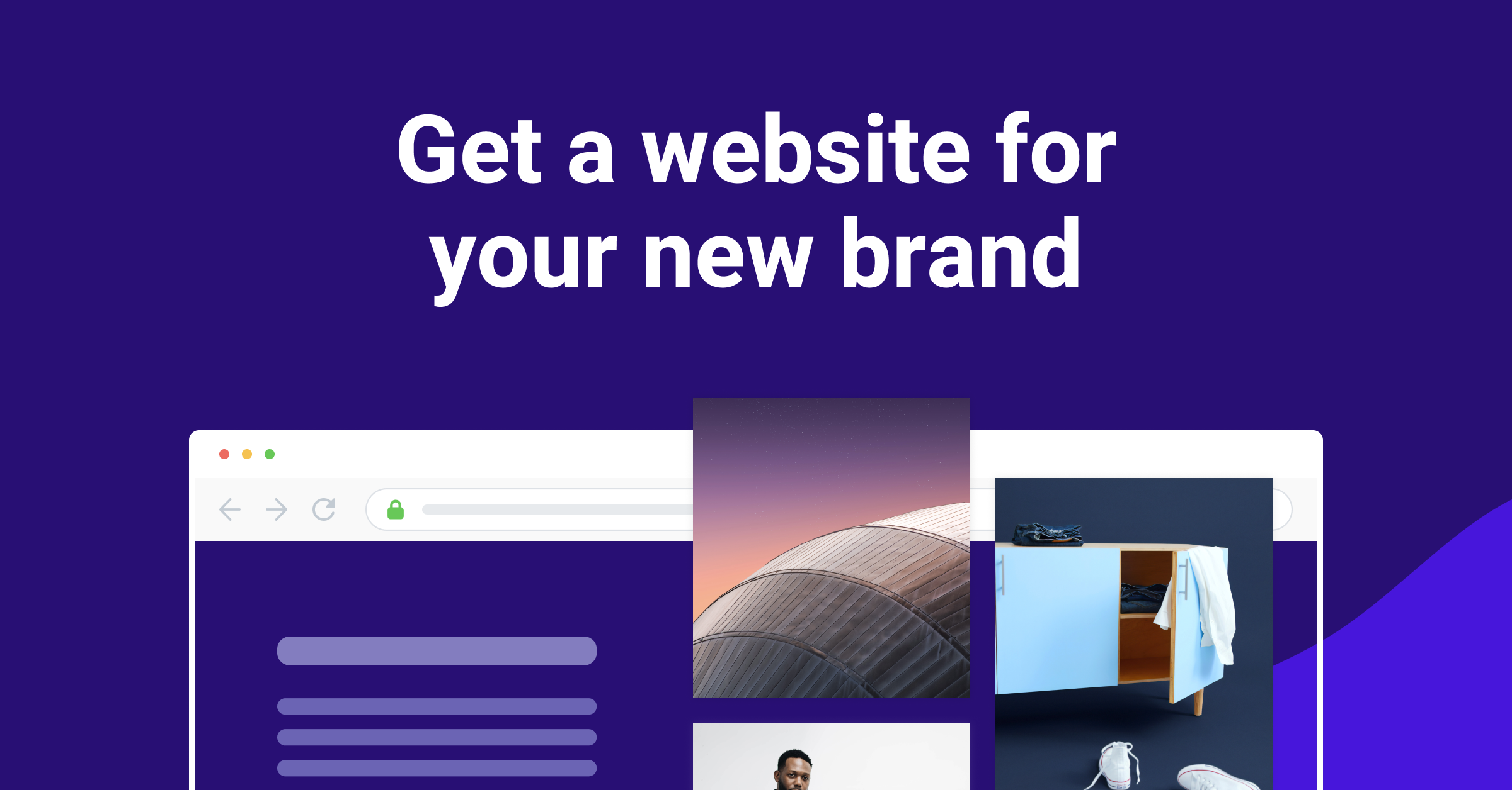 a website template in royal blue color